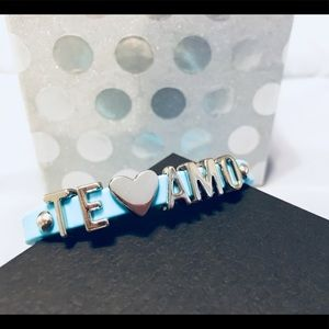 Jewelry - 💙Te Amo (I love you) bracelet with aqua band💙